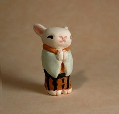 Kimono Bunny Rabbit Figurine  Japanese Ceramic by jillatay on Etsy