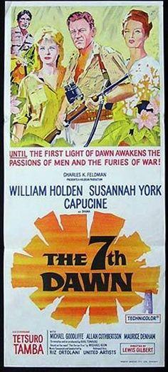 THE 7TH DAWN Original Daybill Movie Poster William Holden