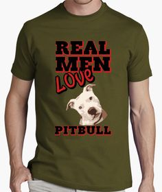T-shirt Real Men Love Pitbull