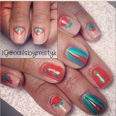 Spring nail art. Shellac nail art