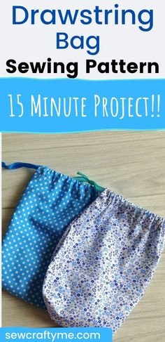 Learn how to sew a drawstring bag in 10 minutes with this easy sewing project. This DIY bag sewing tutorial has just a few straight line stitches and can be done even by a beginner seamstress. They can be great for organizing your little things and can be great as handmade gifts too. #sewingpattern #easysewingproject #sewingtutorial #beginnerpattern #freepattern #sewingideas #easythingstosew #drawstringbagdiy #drawstringbagtutorials #drawstringbagdiyeasy #drawstringbagpattern…