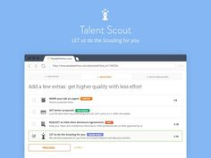 Find it hard to select the right Seller for the Job among the plethora of proposals you receive? Wish you had someone to help you pick the right person for your Job? The Talent Scout extra is here. Get any job done on PeoplePerHour - the #1 freelancing community. Post a job for free to find professional freelancers and find freelance jobs in minutes!