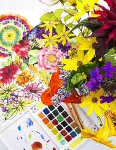 one bouquet of flowers interpreted in three ways (alisa burke)