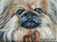 """8x10"""" oil painting of a sweet friend by R.E. Janota"""