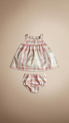 Would never spend $165 on baby clothes but how precious is this Burberry dress and bloomers?