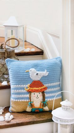 LA75548 - Pillow Fun - $5.99 Who can resist pillows? They soften our world and add decorative accents to lots of different rooms. The whimsical themes and trendy colors in Pillow Fun make the eight pillow sets modern and fun, while Red Heart® yarns make them soft and easy-care.