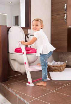 Rotho Babydesign  3in1 Toilettentrainer,  für 18-36 Monate,  41,5 x 25 x 67 cm,  Rosa/Weiß,  von KidsKit Baby Design, All About Pregnancy, Decor Ideas, Gift Ideas, Hospital Bag, Everything Baby, Trainer, Cute Gifts, Breastfeeding