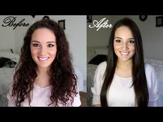 How to Straighten Curly Hair & Maintain It - YouTube