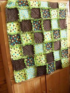Chocolate Pistachio Crib Rag Quilt