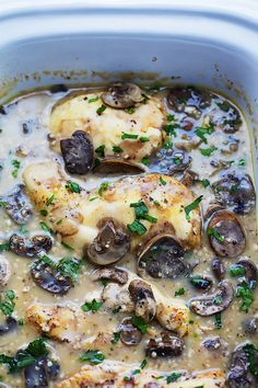 Slow Cooker Chicken Marsala | Creme de la Crumb  We will see what chef Emerald can do with this dish