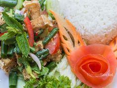 Spicy Tofu Salad Tofu Salad, Thai Restaurant, Fine Wine, Brighton, Thai Red Curry, Catering, Spicy, Vegan, Ethnic Recipes