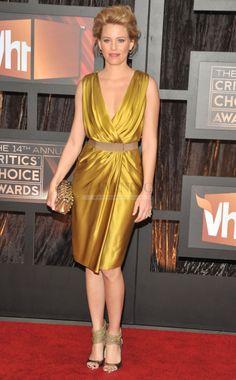 c7dba23e12f Elizabeth Banks Critics Choices Awards Gold Stretch Celebrity Evening  Dress(CD4E-457) Critic