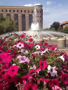 Purdue University: Boiler Up! THIS is the REAL fountain!  Not the big washing machine agitators in front of Hovde...  I love this fountain