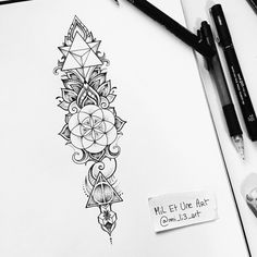 Sacred geometry tattoo commission on Behance