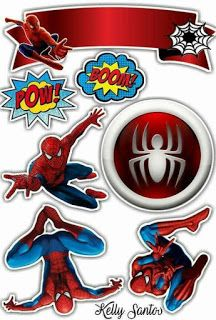 - Oh My Fiesta! for Geeks Spiderman Cake Topper, Spiderman Birthday Cake, Spiderman Movie, Birthday Cake Toppers, 4th Birthday, Spiderman Cards, Free Printable Invitations, Party Printables, Free Printables