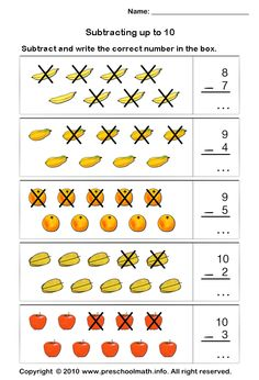preschool math stellar subtraction kindergarten math preschool and math worksheets. Black Bedroom Furniture Sets. Home Design Ideas