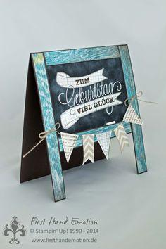 Stampin' Up! by First Hand Emotion: Letzter Tag vor dem Katalogwechsel: Chalkboard-Geburtstagskarte