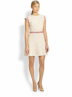 Rebecca Taylor Tweed Zip Dress