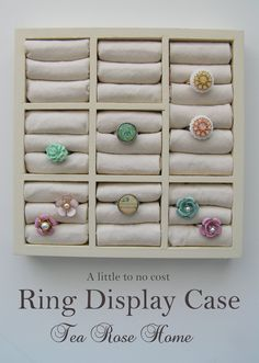 Tea Rose Home: Tutorial/How I Turned a Dollar Store Find to a Ring Display Case