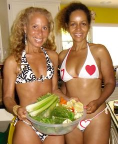 These women are both over 50! They live a healthy, active raw vegan lifestyle. I should be ashamed of myself...