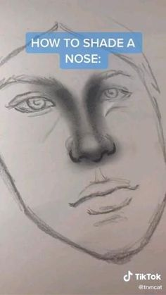 3d Art Drawing, Nose Drawing, Art Drawings Sketches Simple, Pencil Art Drawings, Realistic Drawings, Cool Drawings, Painting & Drawing, Shading Drawing, Wie Zeichnet Man Manga