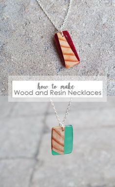 How to make DIY Wood and Resin Necklaces - check out this full photo tutorial to learn every step you need to make these beautiful wood and resin pendants. Resin Necklace, Diy Necklace, Necklaces, Pearl Necklace, Custom Jewelry, Handmade Jewelry, Wood Resin, Resin Art, Wood And Resin Jewelry