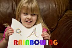 Rainbowing & Colorful Handwriting Practice - Pinned by & Please Visit for all our pediatric therapy pins Preschool Literacy, Preschool Letters, Early Literacy, Kindergarten, Preschool Ideas, Learning Letters, Fun Writing Activities, Kids Writing, Activities For Kids