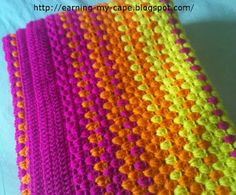 Granny Stripes Color-Burst Blanket By Susie - Free Crochet Pattern - (earning-my-cape.blogspot)