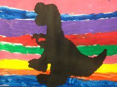 DINOSAURES - Material: paper, cartolina, punxó, pintura, pinzells, cola - Nivell: Infantil P5 14/15