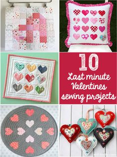 10 Last minute Valentine's sewing projects - Red Brolly