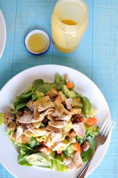 Fail-Proof Honey Mustard Salad Dressing by @Heather Disarro
