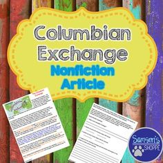 columbian exchange in america and europe essay The great columbian exchange history essay  that the effects of the columbian voyage to the america was highly devasting  exchanged between africa europe and .