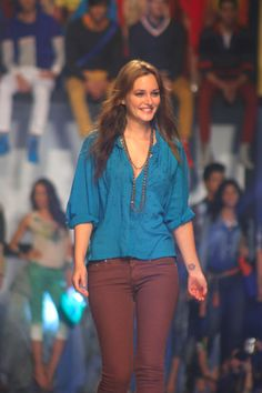"""This photo by Bethoven M. Filomeno shows """"Gossip Girl"""" star Leighton Meester leading celebs on the Fashion Week runway. """"It's a huge honor, I'm just really proud of it, and I think the center and the focus really is the show, and I look forward to seeing and it, and everyone smiling, [because] everyone's been so nice. It's going to be great,"""" the Hollywood actress said. (More photos on ABS-CBNnews.com)"""