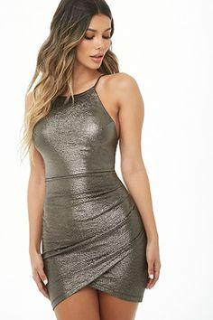 Product Name:Metallic Halter Dress, Category:dress, Red Satin Dress Short, Satin Dresses, Sequin Dress, Bodycon Dress, Long Tight Dresses, Classy Short Dresses, Sexy Dresses, Mini Dresses, Curvey Women