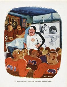 ERICH SOKOL - All right, wise guys — where's the film of last Saturday's game? - item by 17syllablestogo.wordpress