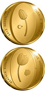 10 euro 400 years of the diplomatic relations between the Netherlands and the Turkey - 2012 - Series: Gold 10 euro coins - Netherlands