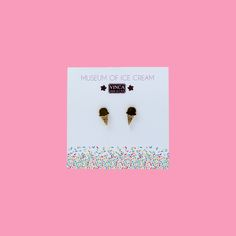 Museum of Ice Cream Mini Cone Earrings $16