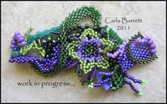 Freeform Beading w/good close-up pix. This picture is from flickr but this blog entry is quite extensive. #seed #bead #tutorial