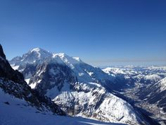 Les Grands Montets i Chamonix Mont-Blanc, Rhône-Alpes