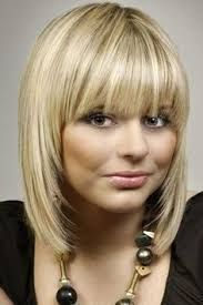 Image result for mid length hairstyles with blunt fringe fine hair