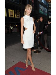 White Cutout Dress. The shoes are PERFECT for this dress!