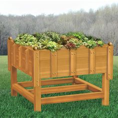 "Deluxe Square Foot Gardening Pattern:  Imagine gardening without having to bend over. 40"" tall for less strain on your back. How cool is that? 16sq. ft. of gardening space. 40""H x 54""W x 54""D Parts Req'd: Wooden Balls (4) W-510, Wooden Plugs (4) W-235  Pattern #2456  $14.95   (crafting, crafts, woodcraft, pattern, woodworking) Pattern by Sherwood Creations"