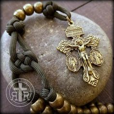 Rugged Rosaries® = the spiritual strength of the rosary + the proven strength of paracord. These are the ORIGINAL Paracord Rosaries. Paracord Rosary, Rosary Catholic, Holy Rosary, Rosary Bracelet, Rosary Beads, Beads For Sale, Diamond Solitaire Necklace, Religious Jewelry, Metal Beads