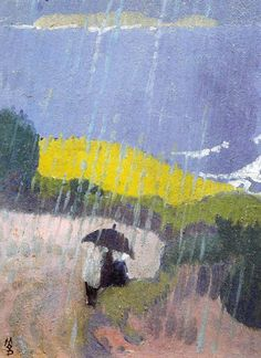 lich-tung:  birdsong217:  Maurice Denis (French, 1870-1943) Pluie en Bretagne, 1889. Oil on canvas.   //