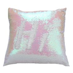 Mermaid Pillow Champagne/White Change Color Sequins Cushion Invert... ($7.86) ❤ liked on Polyvore featuring home, home decor, throw pillows, array0x11200358, sequin throw pillows, white toss pillows, colored throw pillows, mermaid throw pillows and white home decor