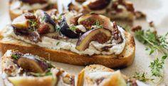 1. Fig Bruschetta #toast #recipes # https://greatist.com/eat/healthy-toast-recipes
