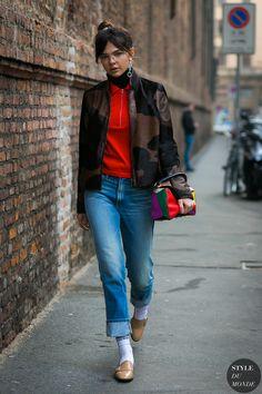 Milan Fashion Week Fall 2017 Street Style: Doina Ciobanu