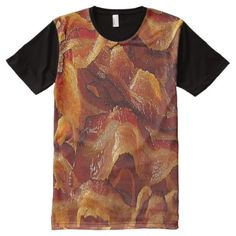 Shop Layers of Bacon All-Over-Print T-Shirt created by DaddyDan. Personalize it with photos & text or purchase as is! Stylish Shirts, S Shirt, Printed Shirts, Bacon, Custom Design, Print Design, Layers, How To Wear, Layering