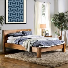 Furniture of America Marchez Rustic Plank Style Platform Bed | Overstock.com Shopping - The Best Deals on Beds