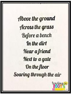 Preposition Poem   Grammar   Pinterest   Poems, Teaching ...